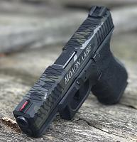 G19 camo green and grey with Greek writing